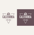 california state textured vintage t-shirt vector image vector image