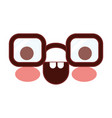 caricature glasses with happy expression in vector image vector image
