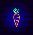 carrot neon sign vector image