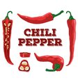 Chili set vector image