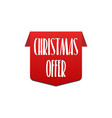 christmas offer special offer best price label vector image
