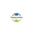 circle technology business logo vector image vector image