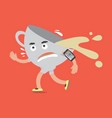 coffee cup on the run with smartphone vector image vector image