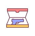 collectible gun rgb color icon vector image vector image