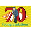 Congratulations 70 anniversary event celebration vector image vector image