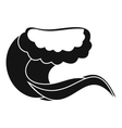 Curling and cracking wave icon simple style vector image vector image
