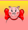 cute pig face vector image vector image