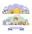 Dairy business infographic vector image