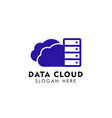 data cloud logo design template server cloud logo vector image vector image