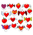 devil heart lovely red sweetheart with vector image