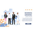 different occupation people job fair flat banner vector image