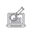 electronic accounting system line icon concept vector image vector image