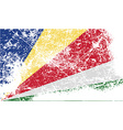 Flag of Seychelles with old texture vector image