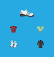 flat icon dress set of foot textile sneakers vector image vector image