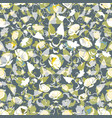 floral seamless pattern abstract leaves flowers vector image vector image