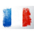 france flag icon in brushstroke texture vector image