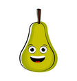 happy pear cartoon character emote vector image