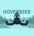 hover bike rider in riding vector image