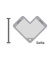 I love selfi Phone as a symbol of heart I vector image vector image
