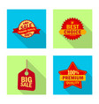 isolated object of emblem and badge icon vector image vector image