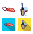 isolated object of food and drink sign set of vector image