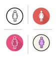 Ladies toilet sign icons vector image vector image