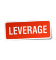 leverage square sticker on white vector image vector image