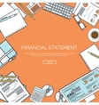 lined Financial statement vector image vector image