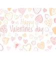 love background with doodle hearts vector image vector image