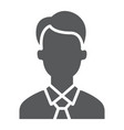 manager glyph icon office and work vector image vector image