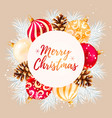 merry christmas greeting postcard vector image