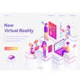 new virtual riality promotional internet banner vector image