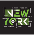 new york t-shirt and apparel geometric vector image vector image