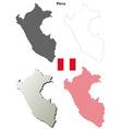 Peru outline map set vector image vector image