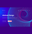 purple abstract spiral shape landing page vector image