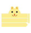 rabbit headband vector image