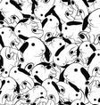 rabbit seamless pattern vector image vector image
