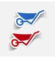 realistic design element wheelbarrow vector image vector image