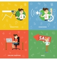 Search analytics training online shopping vector image vector image