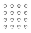 set shield protect icon vector image vector image