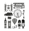 silhouette of london landmarks vector image