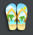 slippers beach vector image vector image