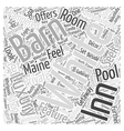 The White Barn Inn Word Cloud Concept vector image vector image