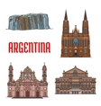 Tourist attractions of Argentina vector image vector image