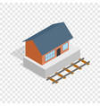 train station building isometric icon vector image vector image
