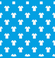 tshirt pattern seamless blue vector image vector image