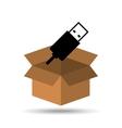 USB drive memory icon graphic vector image