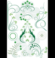 Variants brush patterns of leaves clovers vector image vector image