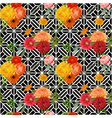 Vintage Colorful Floral Geometry Background vector image vector image