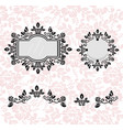 vintage frames set collection of round and vector image vector image